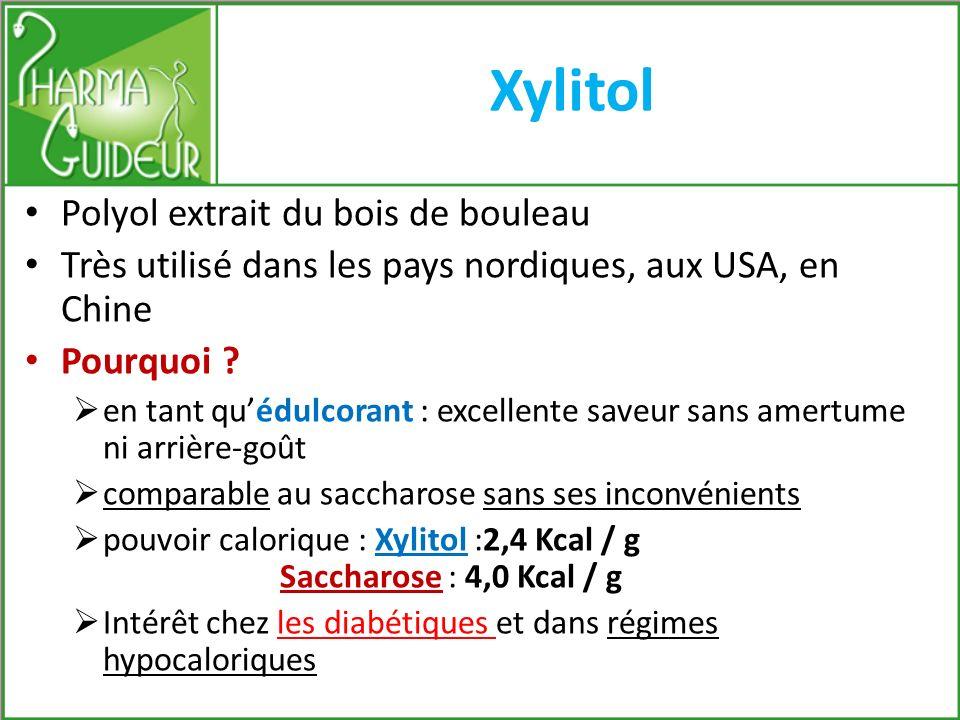 Xylitol Polyol extrait du bois de bouleau