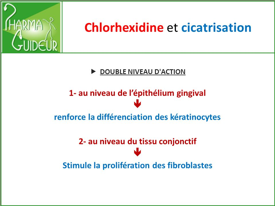 Chlorhexidine et cicatrisation