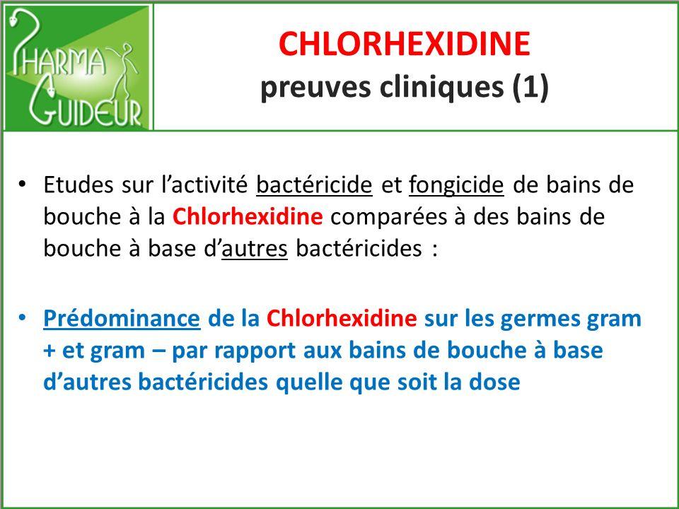 CHLORHEXIDINE preuves cliniques (1)