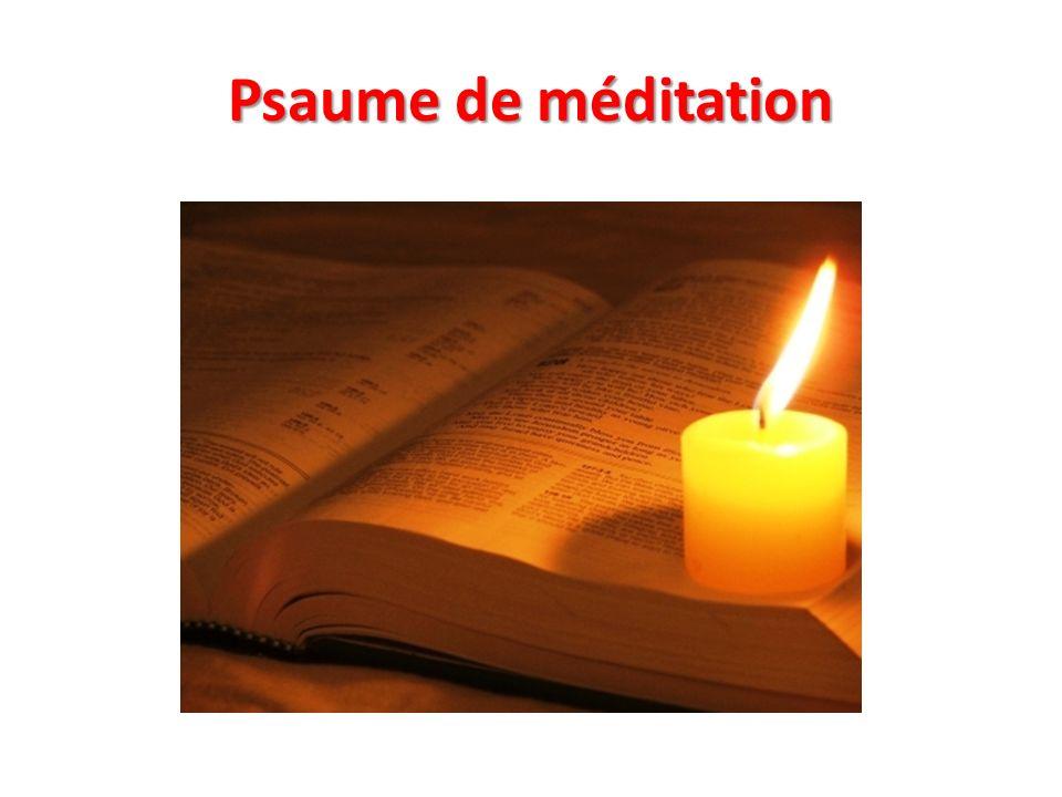 Psaume de méditation