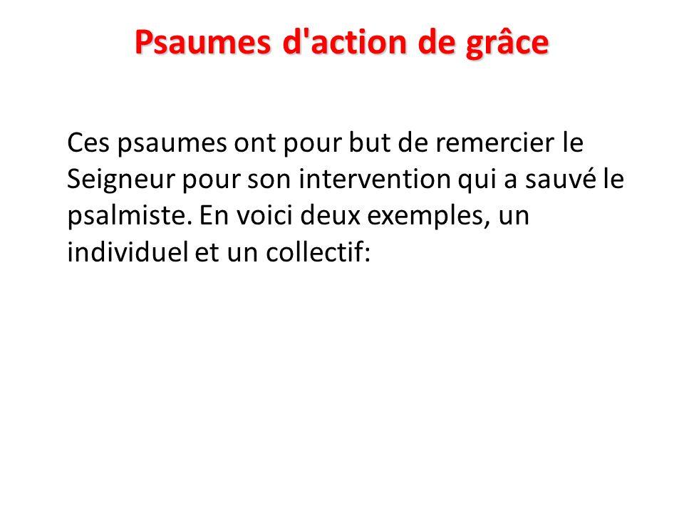 Psaumes d action de grâce