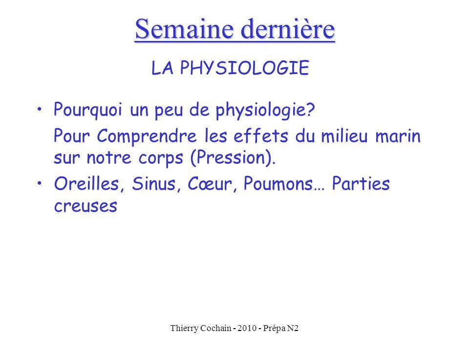 Thierry Cochain - 2010 - Prépa N2