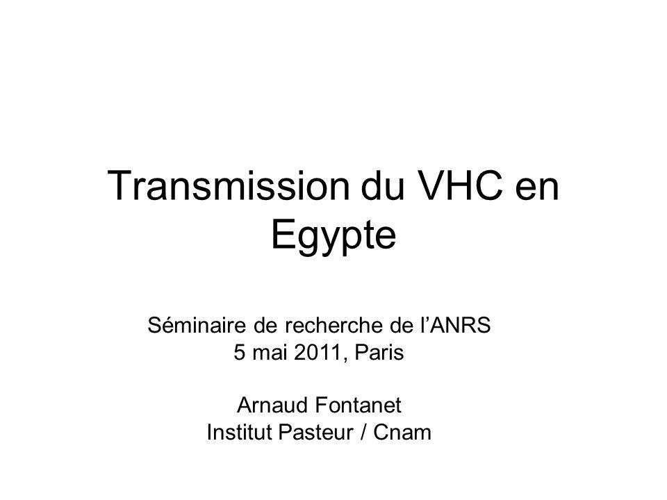 Transmission du VHC en Egypte