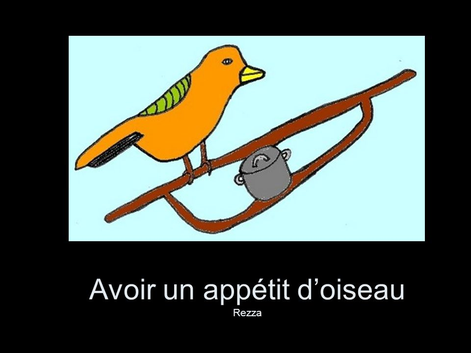 Avoir un appétit d'oiseau Rezza