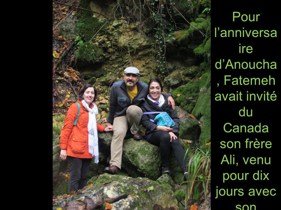 Pour l'anniversaire d'Anoucha, Fatemeh avait invité du Canada son frère Ali, venu pour dix jours avec son épouse Shaghoyegh.