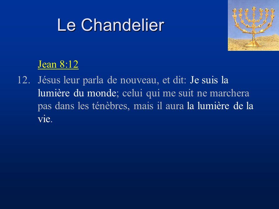 Le Chandelier Jean 8:12.