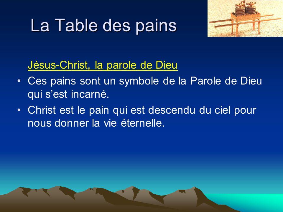 La Table des pains Jésus-Christ, la parole de Dieu