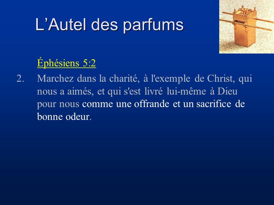 L'Autel des parfums Éphésiens 5:2