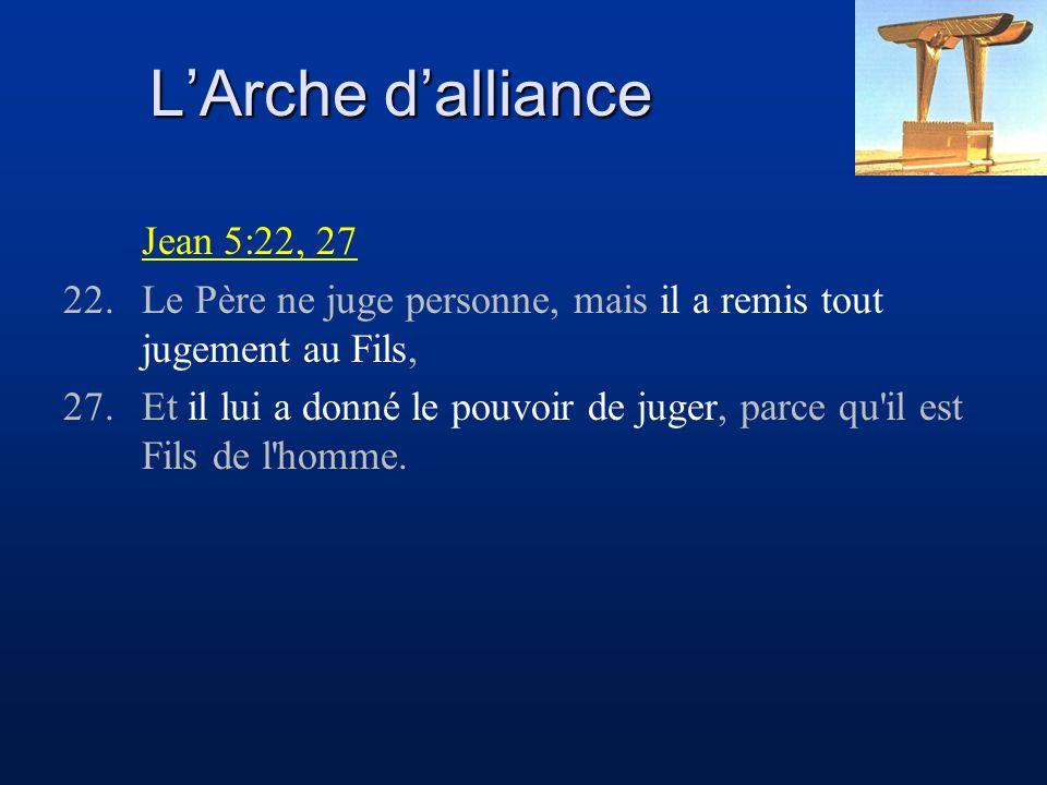 L'Arche d'alliance Jean 5:22, 27