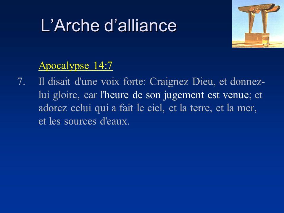 L'Arche d'alliance Apocalypse 14:7