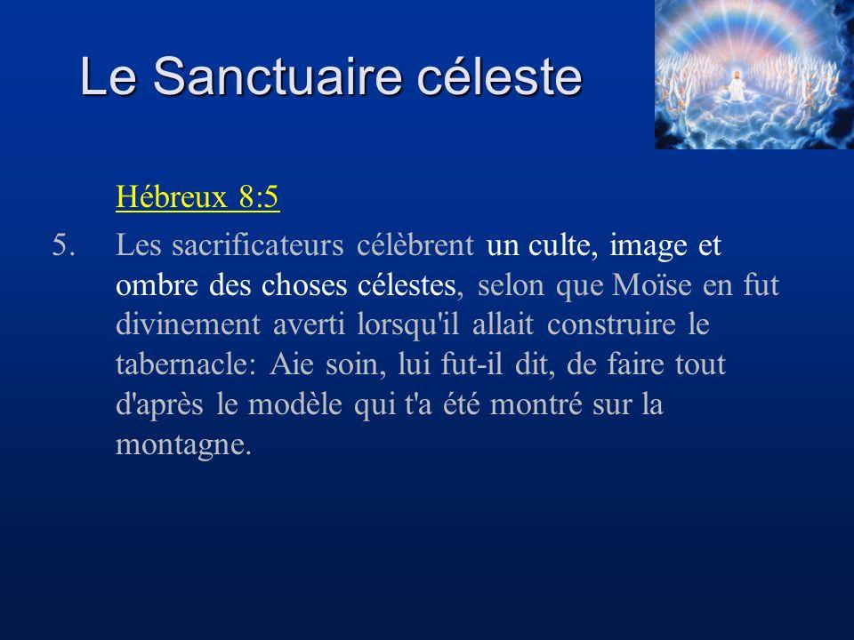 Le Sanctuaire céleste Hébreux 8:5