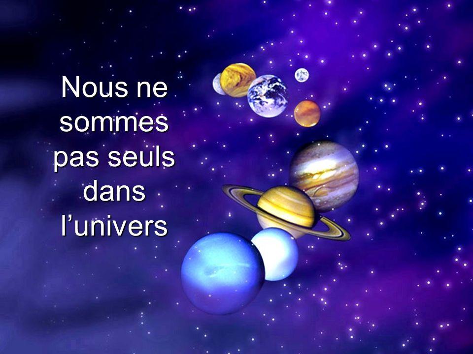 Nous ne sommes pas seuls dans l'univers