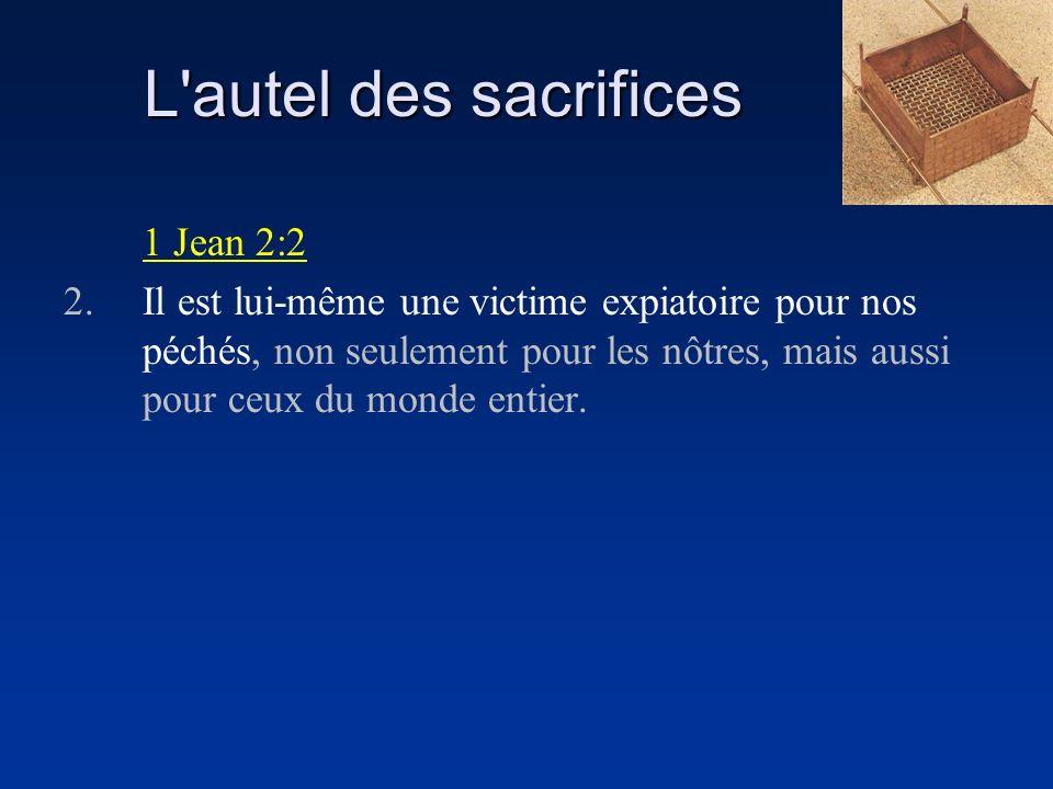 L autel des sacrifices 1 Jean 2:2