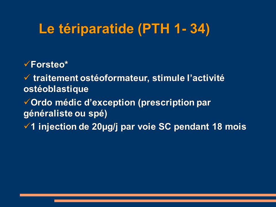 Le tériparatide (PTH 1- 34)