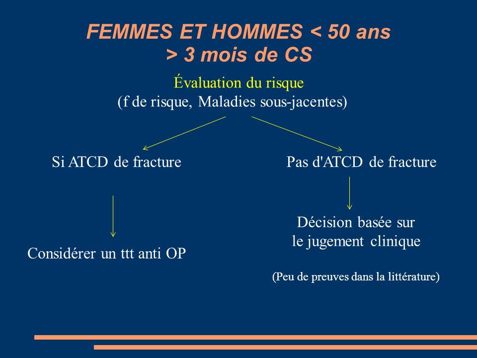 FEMMES ET HOMMES < 50 ans > 3 mois de CS