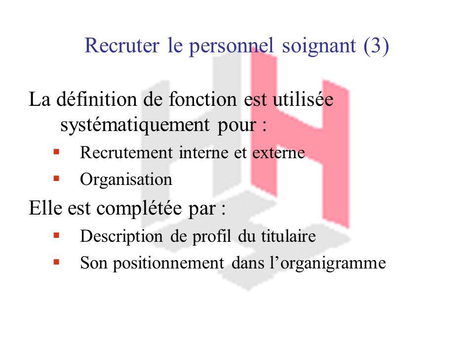 Recruter le personnel soignant (3)