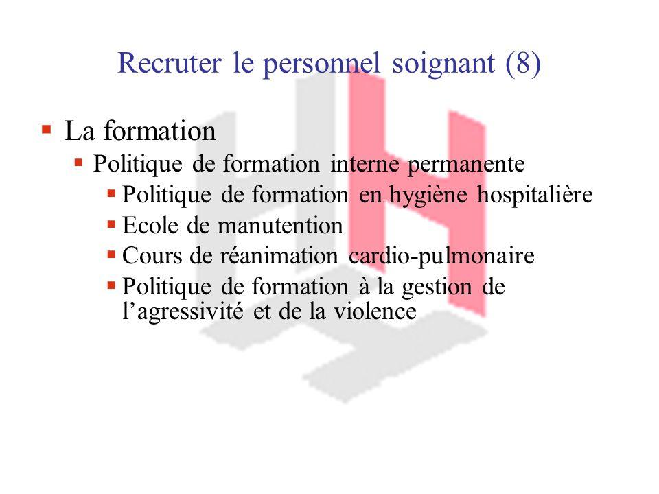 Recruter le personnel soignant (8)