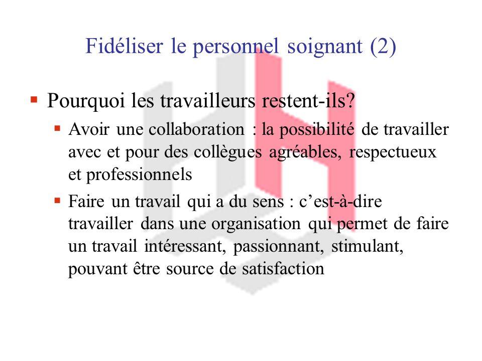 Fidéliser le personnel soignant (2)