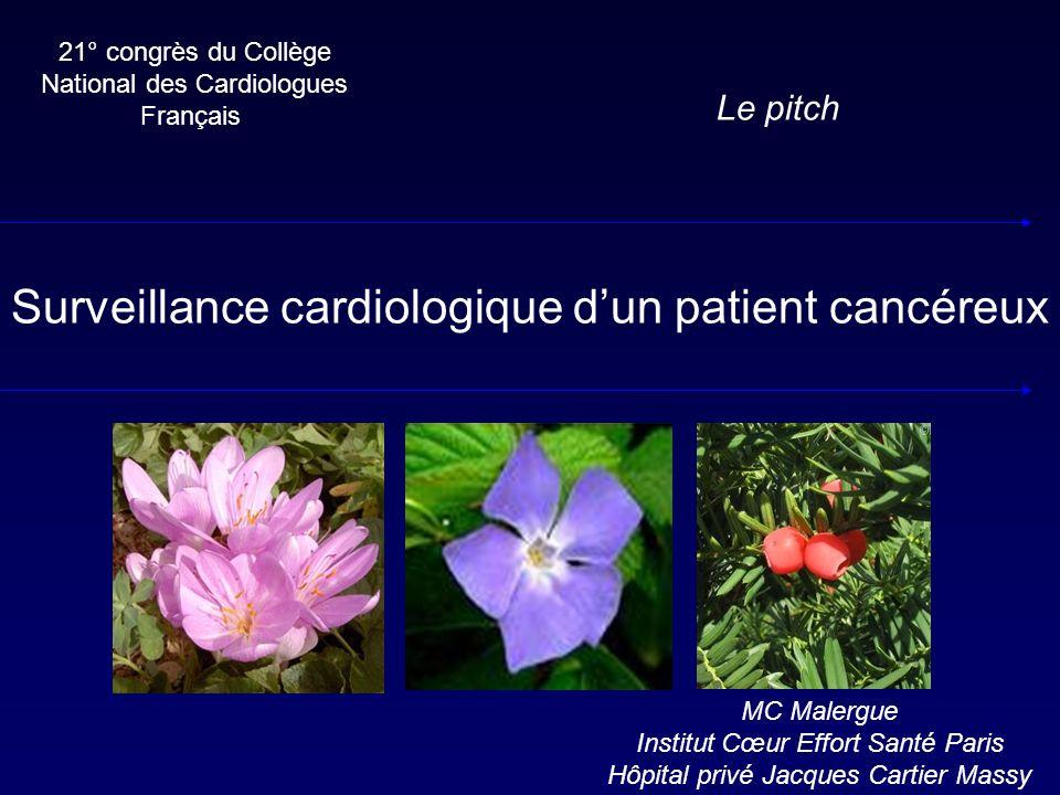 Surveillance cardiologique d'un patient cancéreux