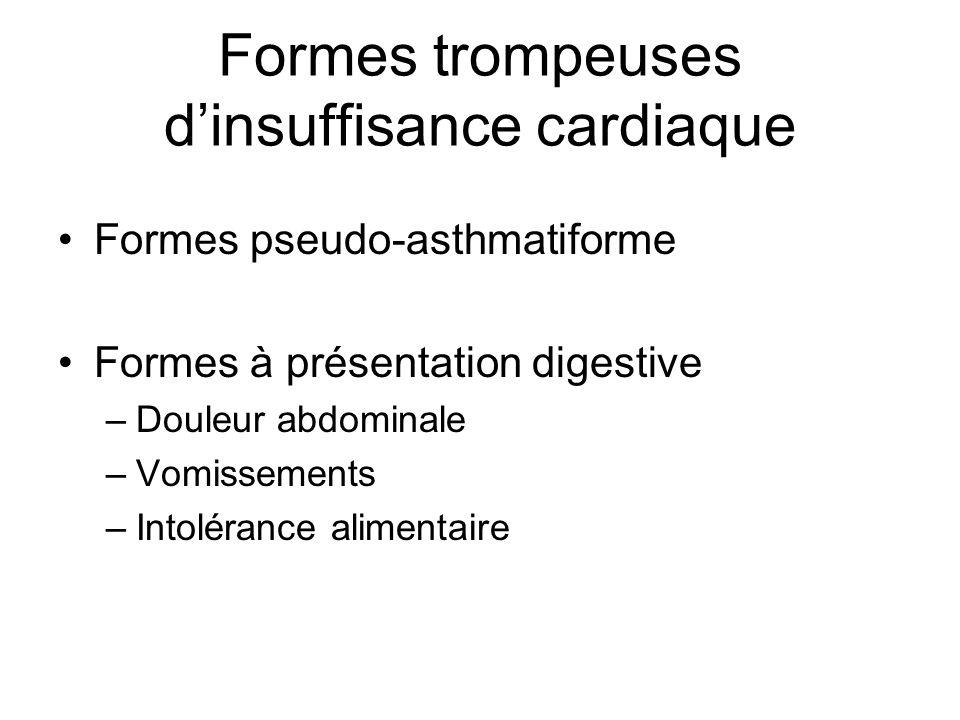 Formes trompeuses d'insuffisance cardiaque