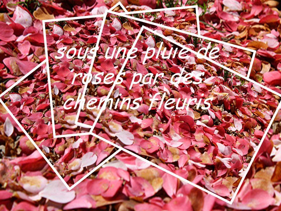 sous une pluie de roses par des chemins fleuris