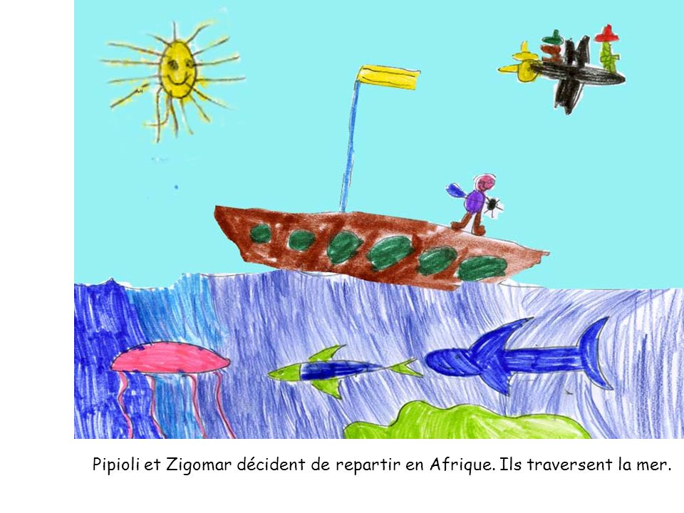 Pipioli et Zigomar décident de repartir en Afrique