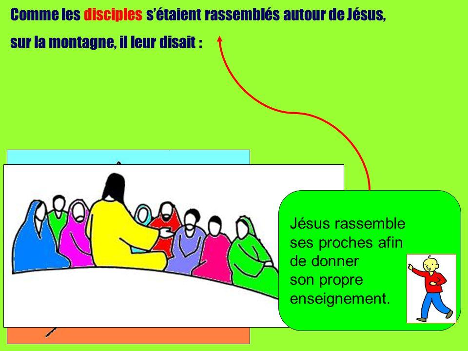 Comme les disciples s'étaient rassemblés autour de Jésus,