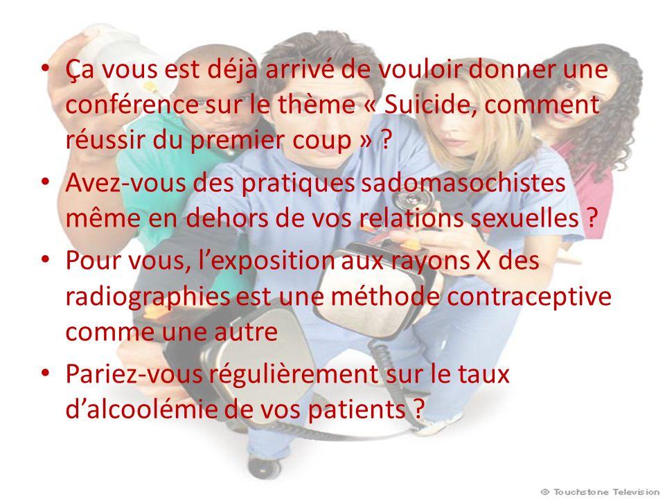 Ça vous est déjà arrivé de vouloir donner une conférence sur le thème « Suicide, comment réussir du premier coup »