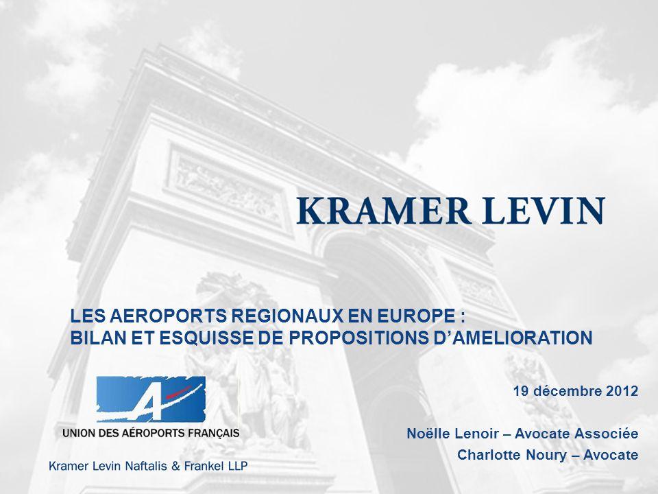 LES AEROPORTS REGIONAUX EN EUROPE :