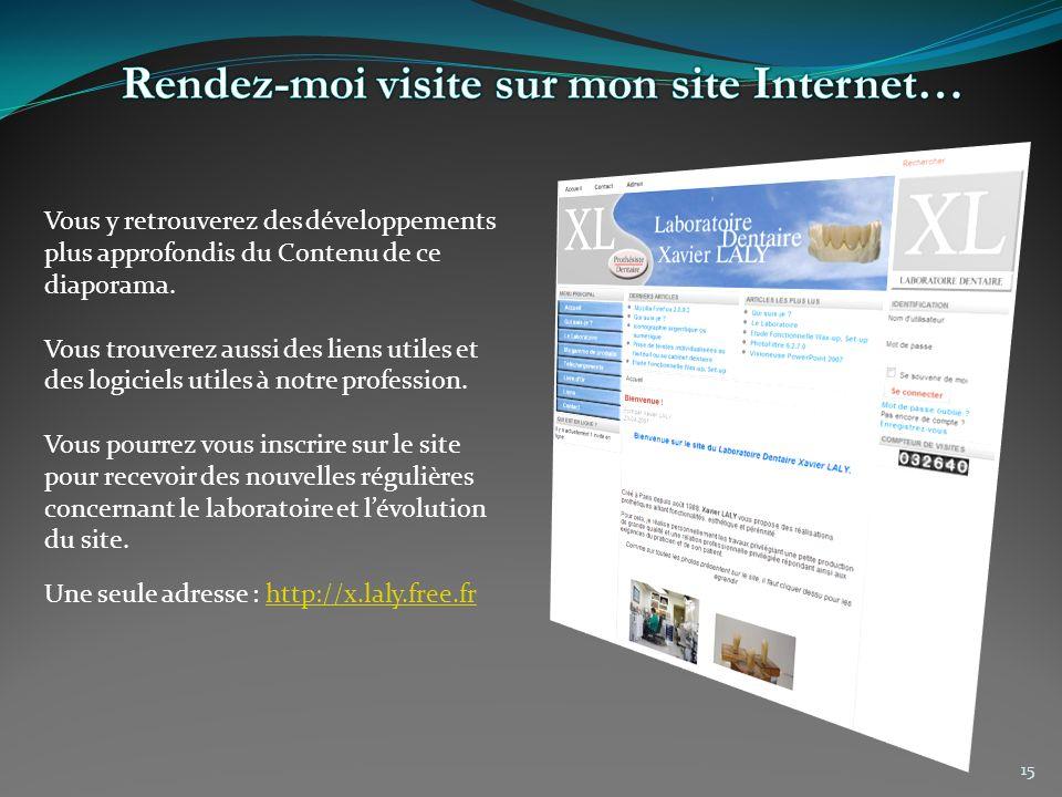 Rendez-moi visite sur mon site Internet…