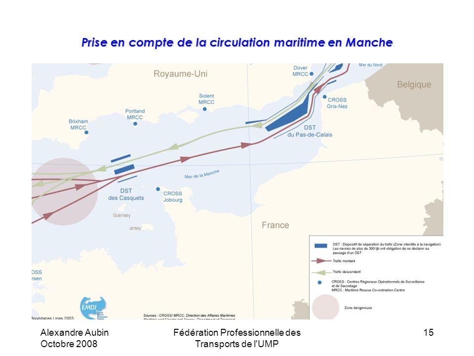 Prise en compte de la circulation maritime en Manche