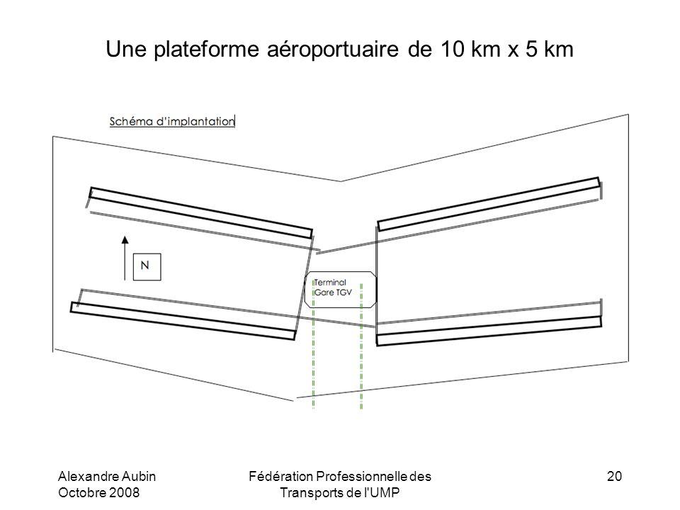 Une plateforme aéroportuaire de 10 km x 5 km