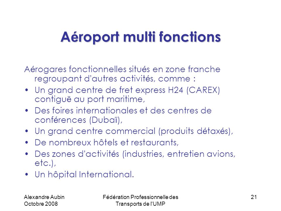 Aéroport multi fonctions