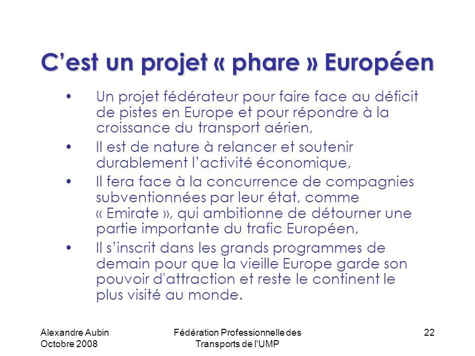 C'est un projet « phare » Européen