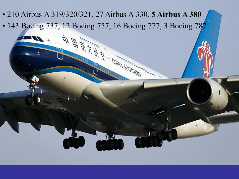 210 Airbus A 319/320/321, 27 Airbus A 330, 5 Airbus A 380