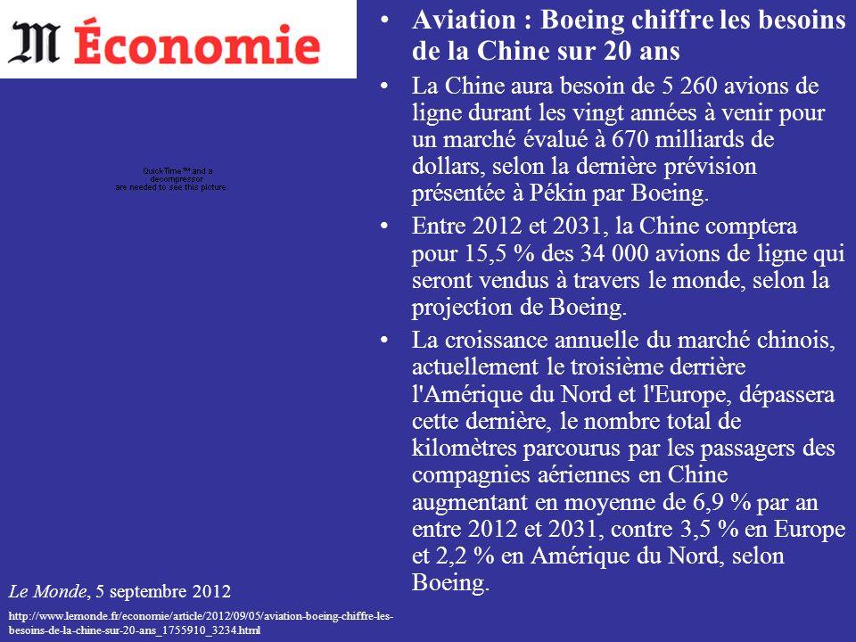 Aviation : Boeing chiffre les besoins de la Chine sur 20 ans
