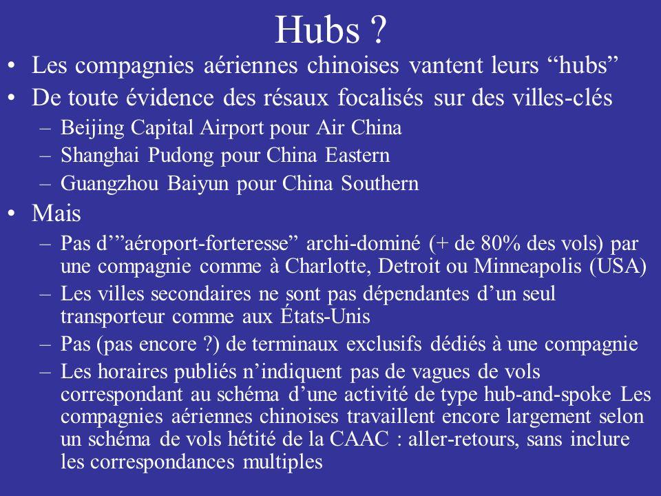 Hubs Les compagnies aériennes chinoises vantent leurs hubs