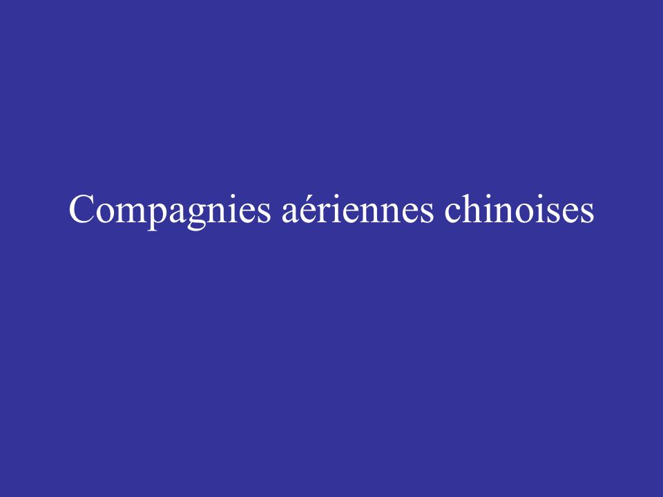 Compagnies aériennes chinoises