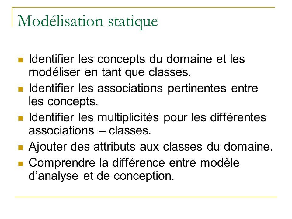 Modélisation statique