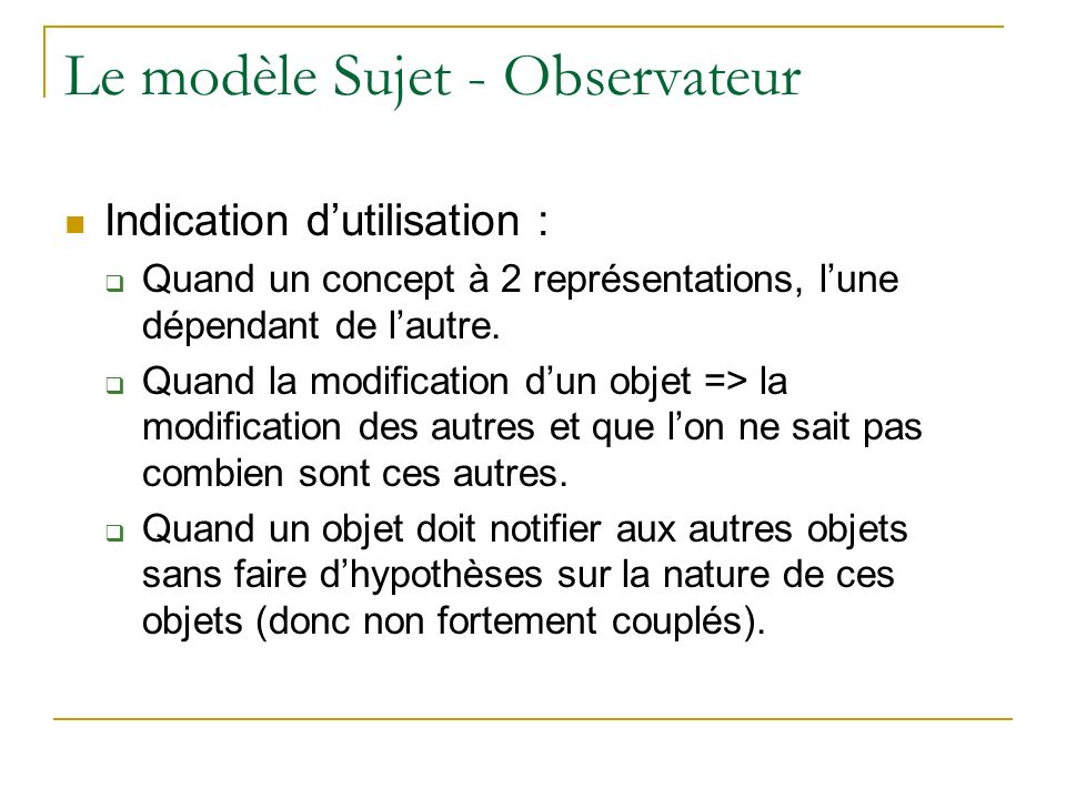 Le modèle Sujet - Observateur