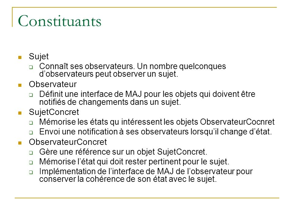 Constituants Sujet Observateur SujetConcret ObservateurConcret