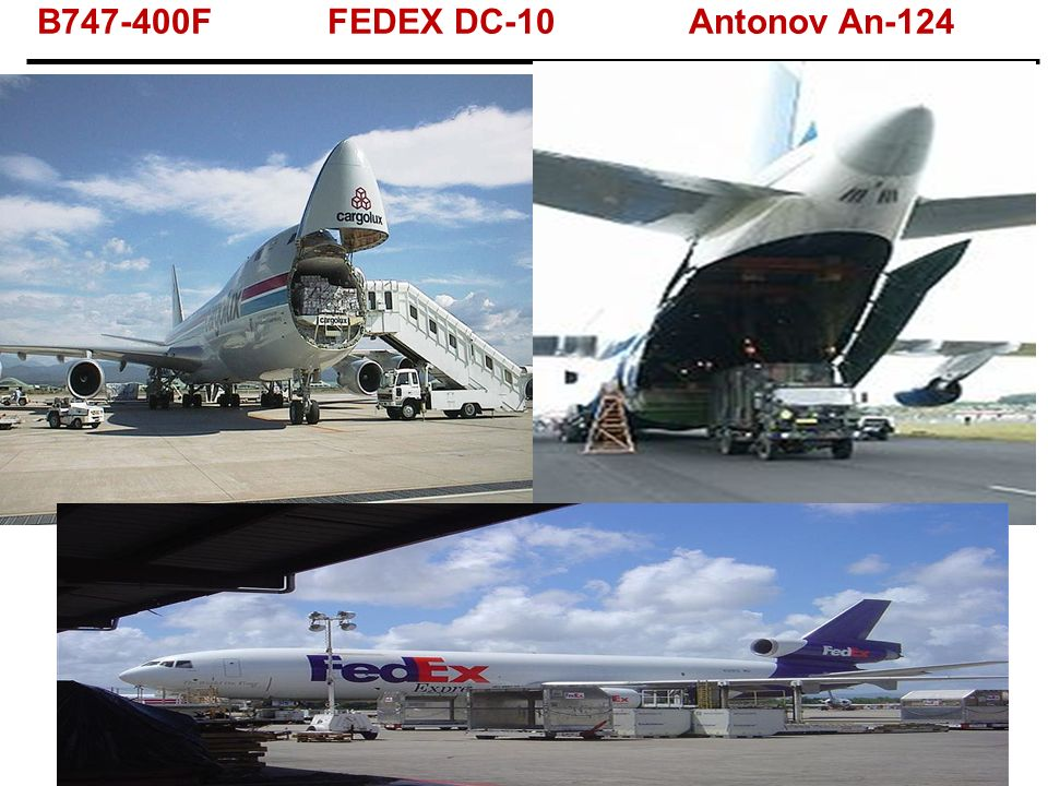 B747-400F FEDEX DC-10 Antonov An-124