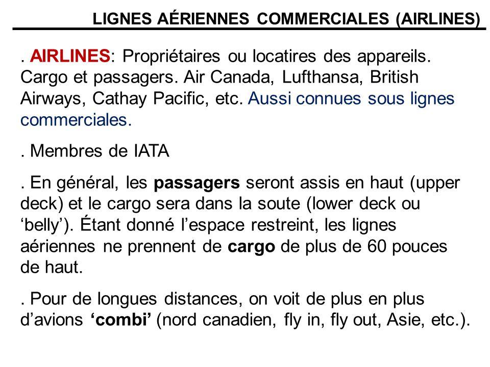 LIGNES AÉRIENNES COMMERCIALES (AIRLINES)