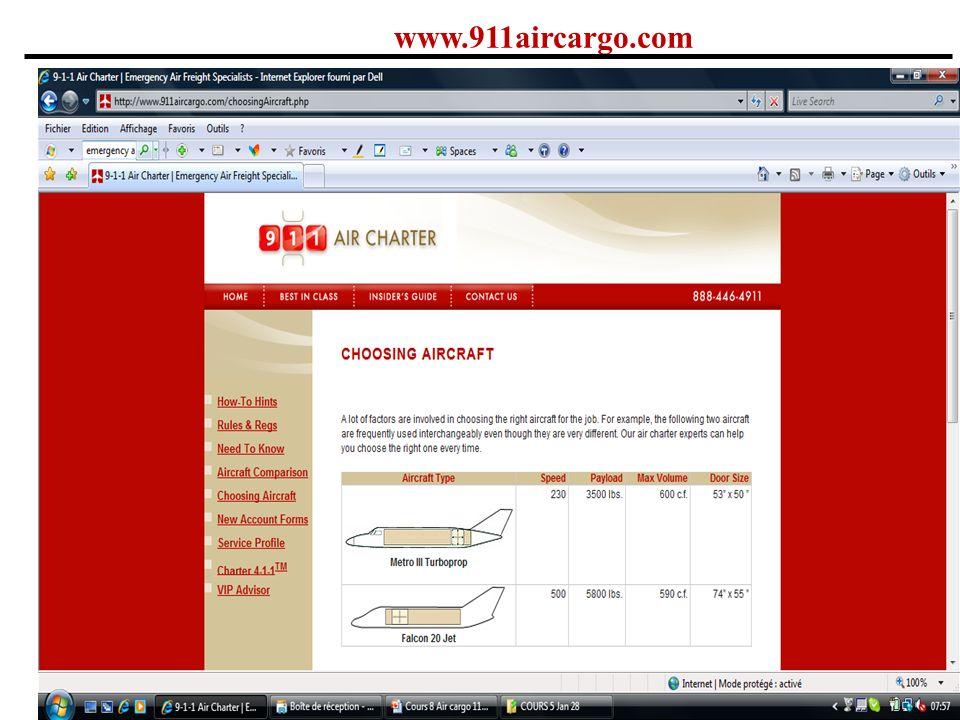 www.911aircargo.com Comme le dernier site, mais avec des spécifications sur la grandeur des portes.