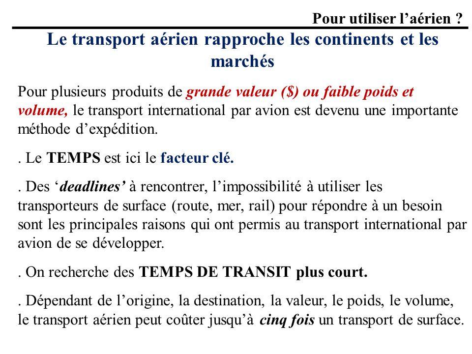 Le transport aérien rapproche les continents et les marchés