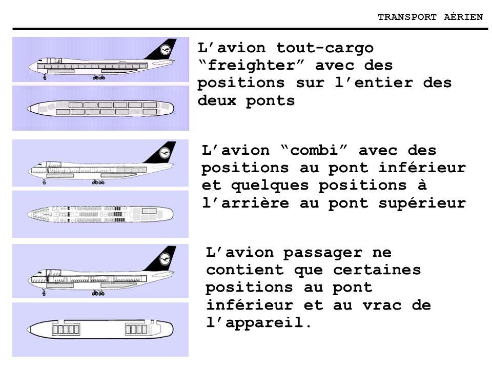 TRANSPORT AÉRIEN L'avion tout-cargo freighter avec des positions sur l'entier des deux ponts.