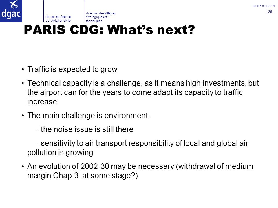 PARIS CDG: What's next Traffic is expected to grow