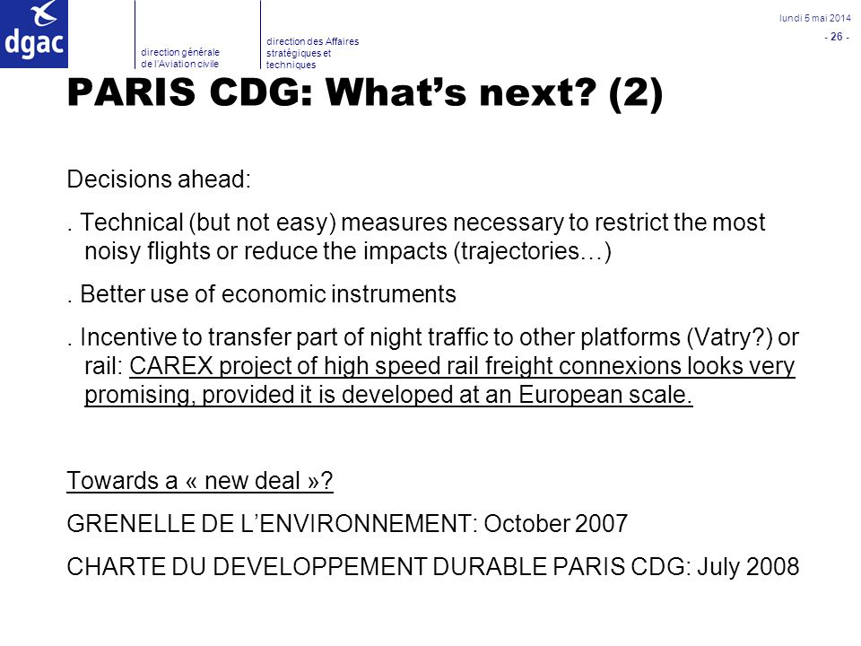 PARIS CDG: What's next (2)