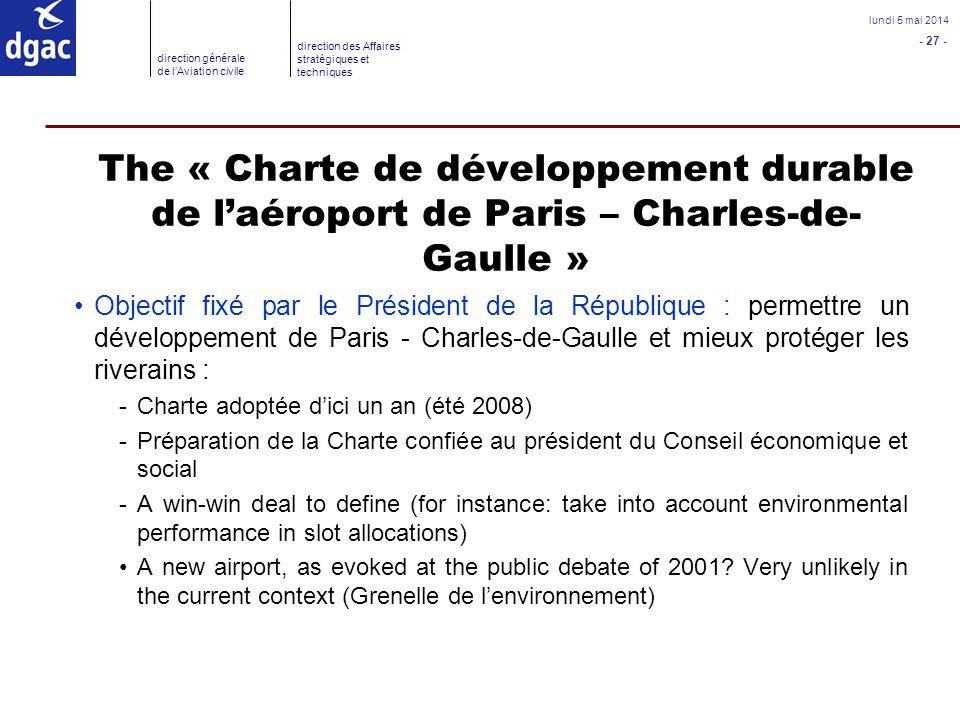 The « Charte de développement durable de l'aéroport de Paris – Charles-de-Gaulle »