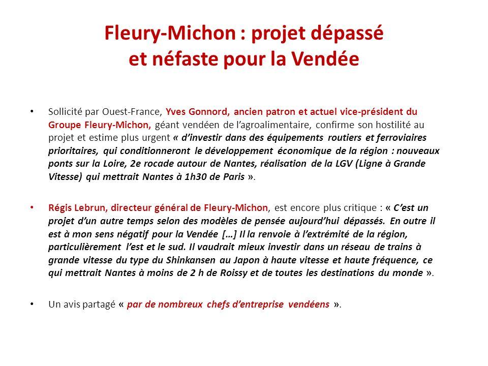 Fleury-Michon : projet dépassé et néfaste pour la Vendée